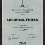 srebrna dako 2004